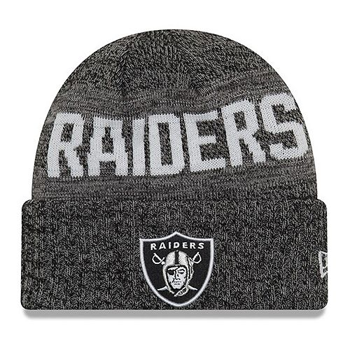 Youth New Era Black Oakland Raiders Crisp Color Knit Cuffed Hat