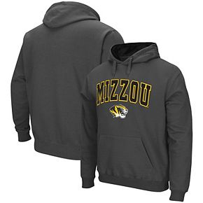 Men's Colosseum Charcoal Missouri Tigers Arch & Logo Pullover Hoodie