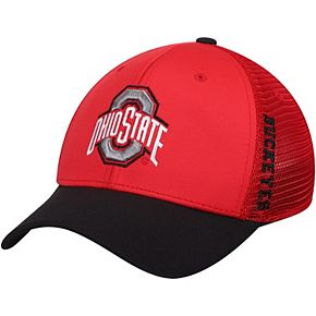 Men's Top of the World Scarlet Ohio State Buckeyes Chatter Meshback Flex Hat