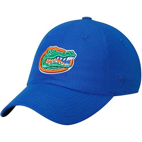 Men's Top of the World Royal Florida Gators Primary Logo Staple Adjustable Hat