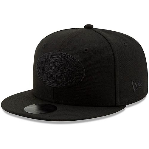 Men's New Era Black San Francisco 49ers Blackout Logo Shade 59FIFTY Fitted Hat