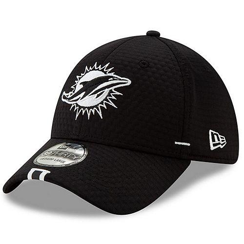 Men's New Era Black Miami Dolphins 2019 NFL Training Camp 39THIRTY Flex Hat