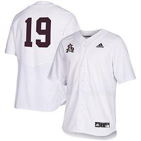 Men's adidas White Arizona State Sun Devils Full Button Baseball Jersey