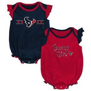 Girls Newborn Navy/Red Houston Texans Homecoming Two-Pack Bodysuit