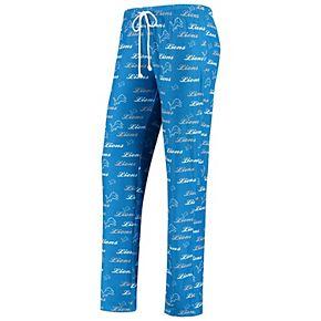 Women's Concepts Sport Blue Detroit Lions Recover Pants