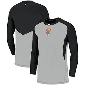 Men's Nike Gray/Black San Francisco Giants Authentic Collection Game Long Sleeve T-Shirt