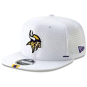 Men's New Era White Minnesota Vikings 2019 NFL Training Camp Original Fit 9FIFTY Adjustable Snapback Hat