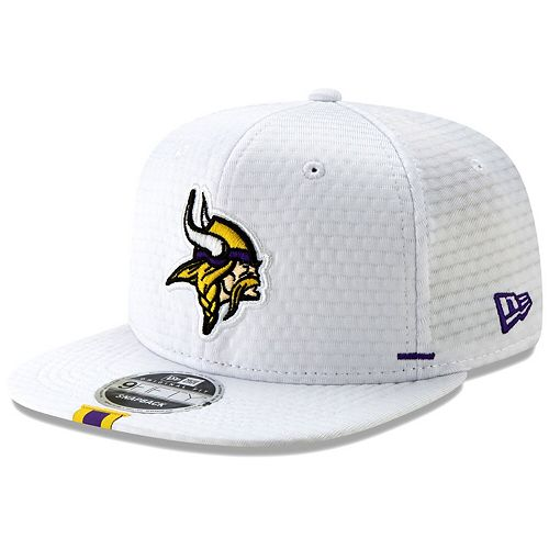 Men's New Era White Minnesota Vikings 2019 NFL Training Camp Original Fit 9FIFTY Adjustable Snapback Hat