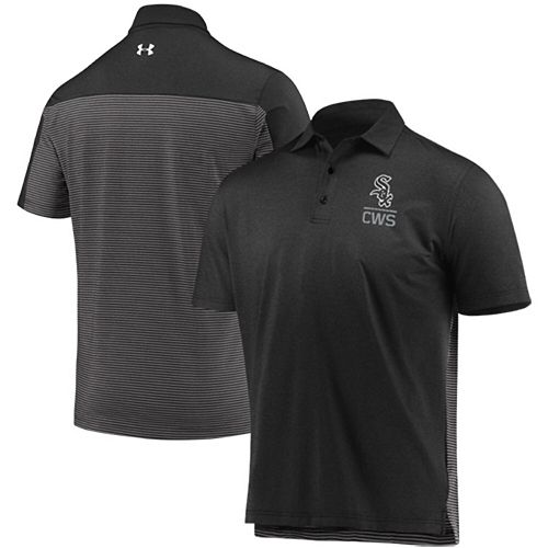 Men's Under Armour Black Chicago White Sox Novelty Performance Polo