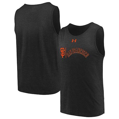 Men's Under Armour Black San Francisco Giants Dual Logo Performance Tri-Blend Tank Top