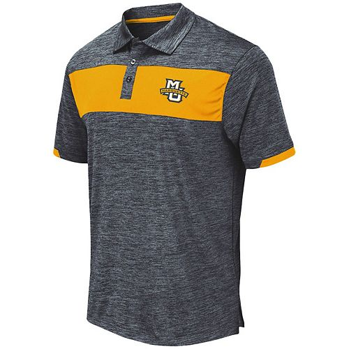 Men's Colosseum Navy Marquette Golden Eagles Nelson Polo