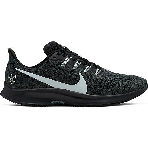 Men's Nike Anthracite/Gray Oakland Raiders Air Zoom Pegasus 36 Running Shoes