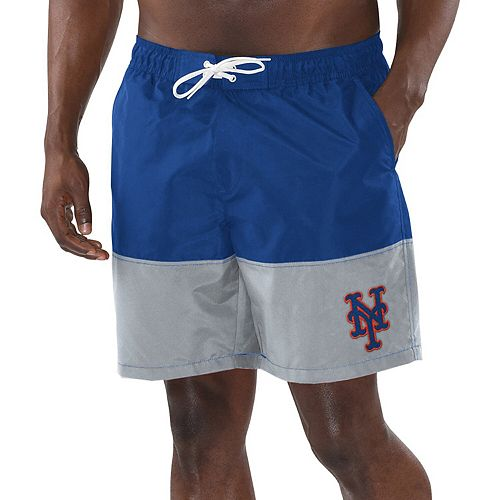Men's G-III Sports by Carl Banks Royal/Gray New York Mets Anchor Volley Shorts
