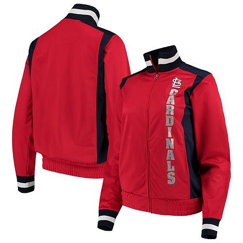 Women's G-III 4Her by Carl Banks Red St. Louis Cardinals On Deck Full-Zip Track Jacket