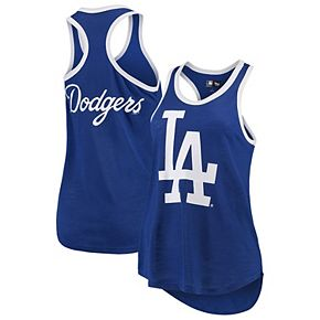Women's G-III 4Her by Carl Banks Royal Los Angeles Dodgers Team Logo Tater Racerback Tank Top