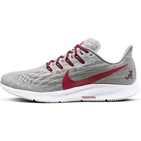 Men's Nike Gray/Crimson Alabama Crimson Tide Air Zoom Pegasus 36 Running Shoes