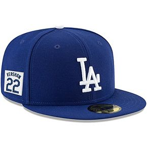 Men's New Era Clayton Kershaw Royal Los Angeles Dodgers Player Patch 59FIFTY Fitted Hat