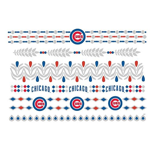 Chicago Cubs Metallic Fashion Tattoos