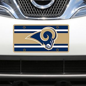 Los Angeles Rams Super Stripe Acrylic Cut License Plate