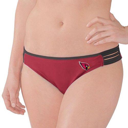 Women's G-III 4Her by Carl Banks Cardinal/Black Arizona Cardinals Outfielder Bikini Bottom
