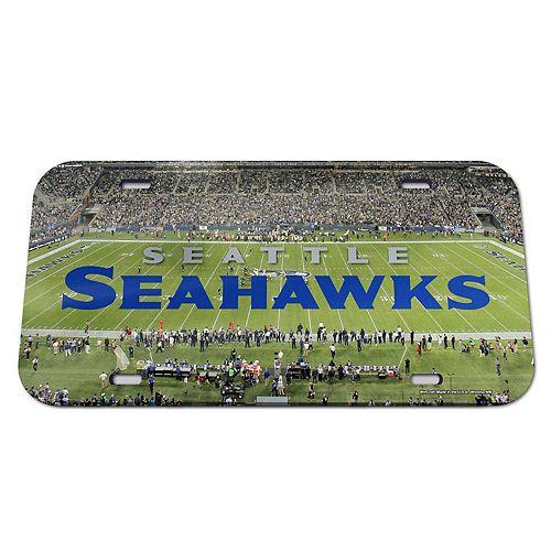 WinCraft Seattle Seahawks Stadium Crystal Mirror License Plate