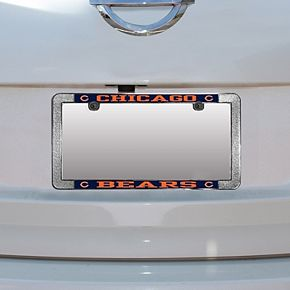 Chicago Bears Metal Thin Rim Acrylic Laser-Cut License Plate Frame