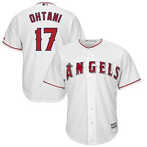 Men's Majestic Shohei Ohtani White Los Angeles Angels Official Cool Base Player Jersey