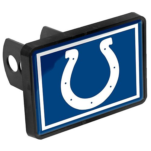 """Indianapolis Colts Logo 1.25"""" x 2"""" Universal Plastic Hitch Cover"""