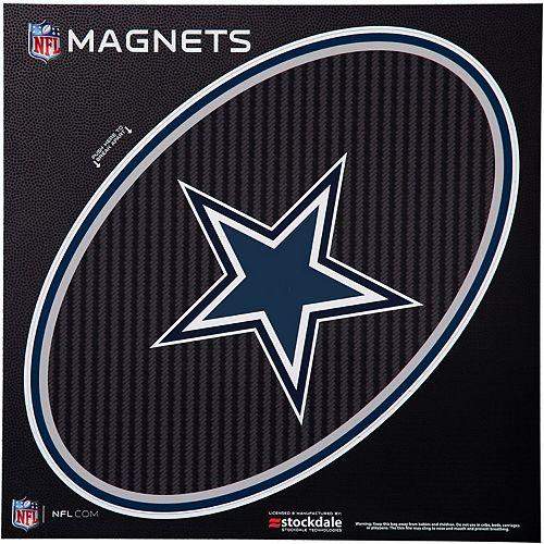 "Dallas Cowboys Carbon 12"" x 12"" Oval Full Color Magnet"