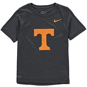 Youth Nike Anthracite Tennessee Volunteers Logo Legend Performance T-Shirt