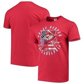 Men's Bryce Harper Red Philadelphia Phillies Liberty Player T-Shirt