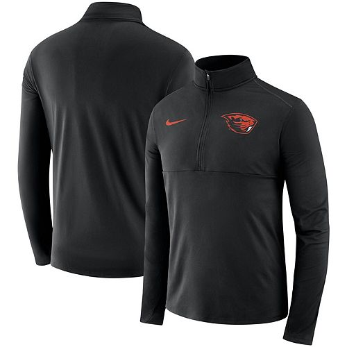 Men's Nike Black Oregon State Beavers Core Half-Zip Pullover Jacket