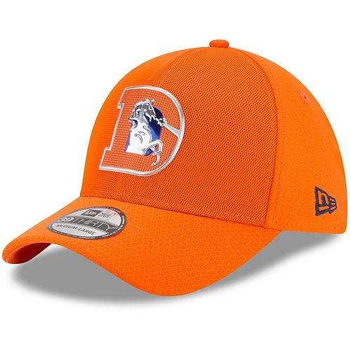 Youth New Era Orange Denver Broncos 2017 Color Rush 39THIRTY Flex Hat