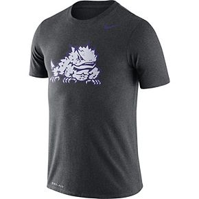 Men's Nike Heather Charcoal TCU Horned Frogs Legend Logo Dri-FIT Performance T-Shirt