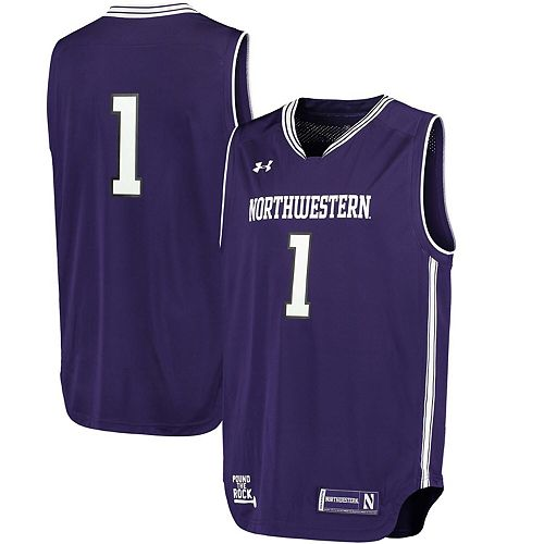 Men's Under Armour #1 Purple Northwestern Wildcats Replica Basketball Performance Jersey