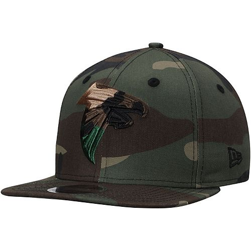 Men's New Era Atlanta Falcons Tonal Woodland Camo Capped 9FIFTY Adjustable Hat