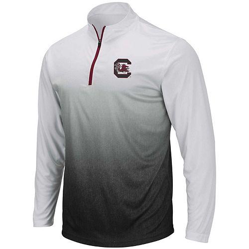 Men's Colosseum Gray South Carolina Gamecocks Magic Team Logo Quarter-Zip Jacket