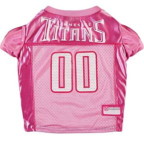 Pink Tennessee Titans Mesh Dog Jersey