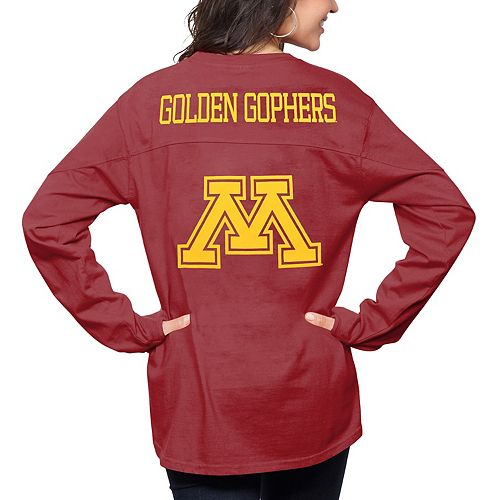 Women's Pressbox Maroon Minnesota Golden Gophers The Big Shirt Oversized Long Sleeve T-Shirt