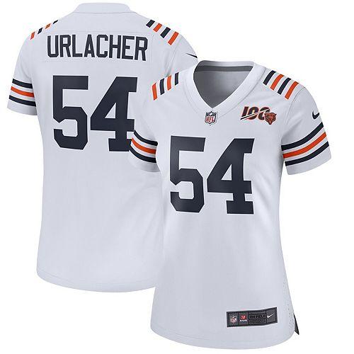 brand new 3c776 5b347 Women's Nike Brian Urlacher White Chicago Bears 2019 100th Season Alternate  Classic Retired Player Game Jersey