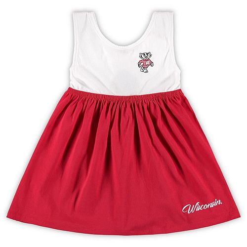 Girls Toddler Colosseum Red Wisconsin Badgers Berlin Bowtie Dress