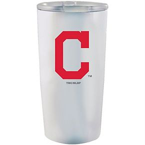Cleveland Indians 20oz. Powder-Coated Team Logo Tumbler