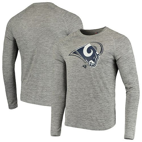 Men's NFL Pro Line by Fanatics Branded Heathered Gray Los Angeles Rams Iconic Vital to Success Synthetic Long Sleeve Raglan T-Shirt