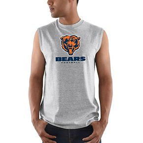 Men's Majestic Heathered Gray Chicago Bears Critical Victory Tank Top