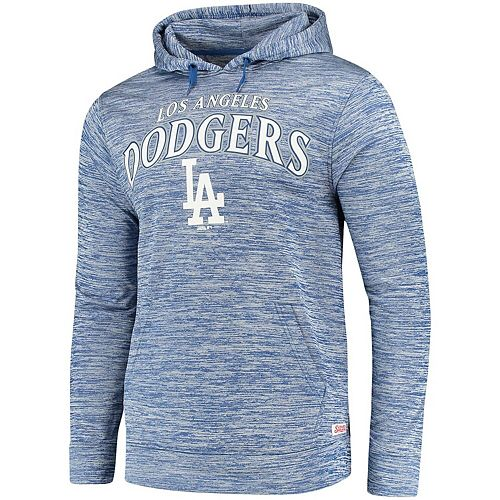 Men's Stitches Heathered Royal Los Angeles Dodgers Digital Fleece Pullover Hoodie