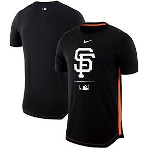 Men's Nike Black San Francisco Giants Team Issue Mesh Back Performance T-Shirt