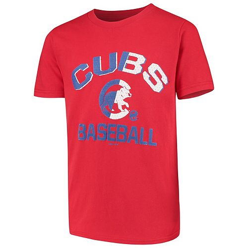 Youth Red Chicago Cubs Team Trainer T-Shirt