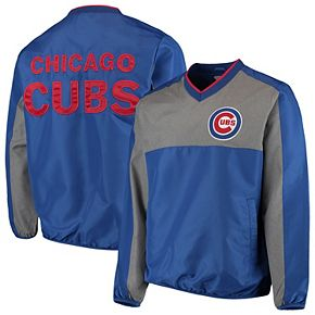 Men's G-III Sports by Carl Banks Royal/Gray Chicago Cubs Clutch Hitter Pullover V-Neck Jacket