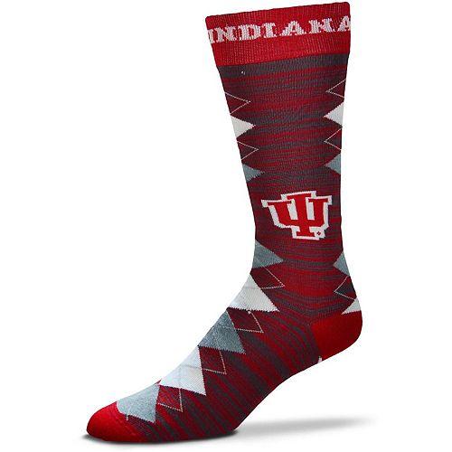 Men's For Bare Feet Indiana Hoosiers Fan Nation Crew Socks
