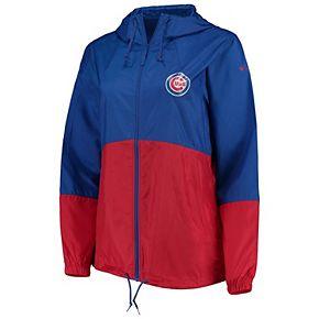 Women's Columbia Royal/Red Chicago Cubs Flash Forward Windbreaker Jacket